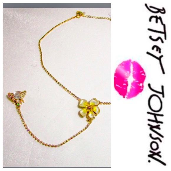 Betsey Johnson Jewelry - NWOT iridescent Betsey Johnson Flower bug necklace